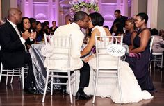 bride and groom kissing wedding photo