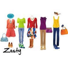 Zesty - Warm, Light, Bright (classic Spring) (Cool equivalent is Refined)