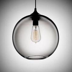 Modernes Glas Transparent Pendelleuchte von EnoLights auf Etsy, €85.00