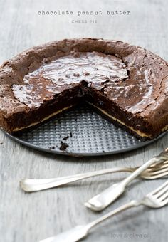 chocolate peanut butter pie | by love & olive oil