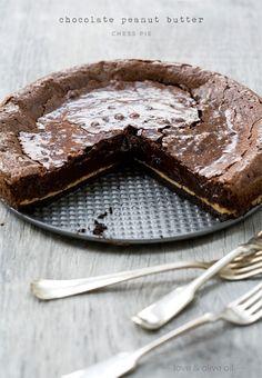 Chocolate Peanut Butter Chess Pie