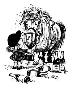 Norman Thelwell cartoons from Punch magazine Norman, Horse Cartoon, Names Of Artists, Funny Horses, Art Series, Animals Images, Art Images, Deco, Equestrian
