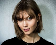 Karlie Kloss || bob with bangs