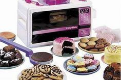 The Easy Bake Oven was introduced in the 60's but became very popular in the 90's.
