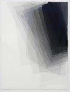 yama-bato:    Joachim Bandau  untitled, 20.11.2011 • water colour on Arches Rives, 105 × 75cm
