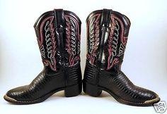 Durango-Big-Kid-Black-Lizard-Western-Boots-BT940-Size-12-5