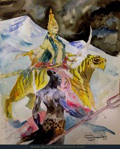 Shiva Watercolor on Archival Paper Height: 12in by Width: 9in