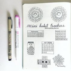 """Mini Habit Trackers for your monthly spreads in your bullet journal """