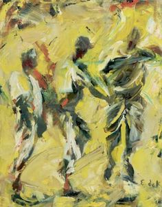 Elaine De Kooning (American, 1918-1989), Baseball. Oil on canvas, 14 x 11 in.