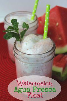 Watermelon Agua Fresca Float Recipe - Thrifty Jinxy