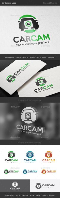 Car Camera Logo — Vector EPS #log #shot • Available here → https://graphicriver.net/item/car-camera-logo/12373370?ref=pxcr