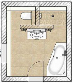 Der Grundriss des neuen Komplettbads The floor plan of the new complete bathroom