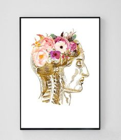 Occupational Therapy Gifts, Massage Place, Brain Art, Anatomy Art, Psychology Facts, Graduation Gifts, Art Prints, This Or That Questions, Wall Art
