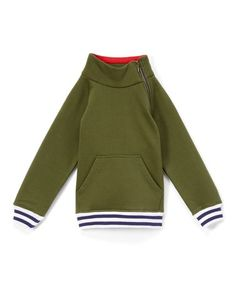 finest selection 5b555 7bd24 Give your little one a cozy layer with this soft cotton sweatshirt. A side  zipper allows him to adjust the ventilation to stay comfy, and a front  kangaroo ...