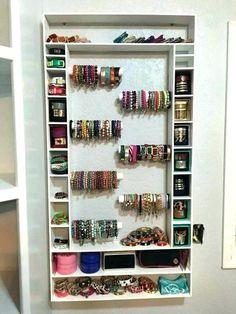 Jewelry Organizer jewelry storage solutions marvellous design bracelet storage ideas more jewelry craft rustic cuff homemade crafts closet Jewelry Storage Solutions, Jewellery Storage, Jewellery Display, Diy Jewellery, Jewellery Showroom, Earring Storage, Jewellery Earrings, Jewellery Shops, Handmade Jewelry