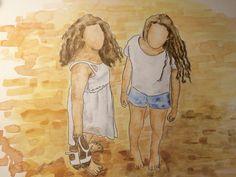 Las niñas en la playa