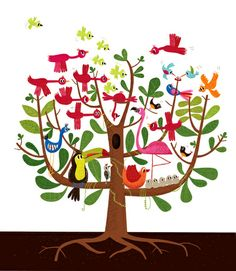 summer tree, print, $15.00