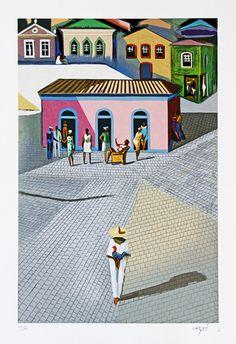 Sem título. Sem data. Serigrafia. Hector Julio Páride Bernabó (Carybé), (Lanús, província de Buenos Aires, Argentina, 07/02/1911 — Salvador, Bahia, Brasil, 02/10/1997).
