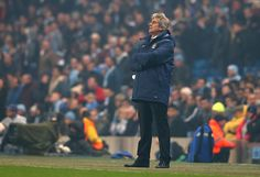 Manchester City Manager Manuel Pellegrini looks on during the UEFA Champions League Group E match between Manchester City and CSKA Moscow on November 5, 2014 in Manchester, United Kingdom