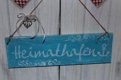 Tür- & Namensschilder - heimathafen schild holz shabby chalky - ein…