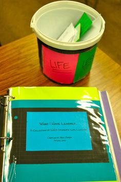 Hunger Games Lessons: Examples of Life Lessons teacher binder