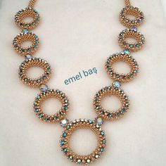 CRAW necklace with Swarovski crystals  by Emel Bas from Turkey