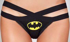 Batman Logo Lace Back Bikini Style Women's Panties