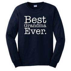 ThisWear Womens Best Grandma Ever Long Sleeve T-Shirt