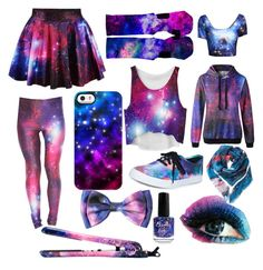 """Galaxy"" by sparkles63755 ❤ liked on Polyvore featuring Uncommon, Vans, Marc by Marc Jacobs and Eva NYC"