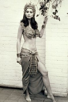 Blood From the Mummy's Tomb (1971) Valerie Leon strikes a pose in her Tera costume.