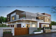 House Facade Design Modern Architecture Front Doors Ideas For 2019 House Front Porch, House Front Design, Modern House Design, Dream House Exterior, Exterior House Colors, Exterior Homes, Facade Design, Exterior Design, Grey Exterior
