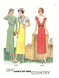 Look anni '30 - Manifesto con look anni '30