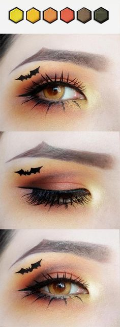 Looking for for ideas for your Halloween make-up? Navigate here for cute Halloween makeup looks. Joker Makeup, Goth Makeup, Scary Makeup, Halloween Makeup For Kids, Halloween Eyes, Halloween Pumpkin Makeup, Palette Urban Decay, Mermaid Makeup Tutorial, Creative Makeup Looks