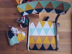 DIY : CUSTOMISER UNE CHAISE D'ECOLIER (Diy Furniture Redo)