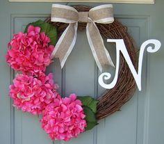 Monogrammed Wreath  Summer Wreath  Fall Wreath