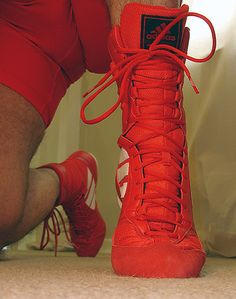 WRESTLING boots are cool
