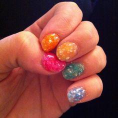 Rainbow shell nails! :-) Love them!