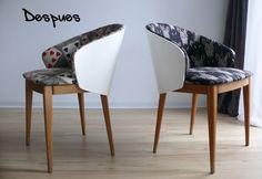 Sillas recicladas despues,#reciclar sillas