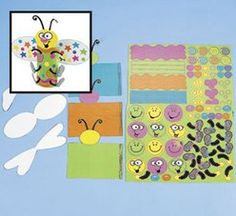 3-D Shaped Bug Sticker Scene (2 sets) :   Create a buzz with this fun and easy bug sticker scene craft project!  Includes paper 19.1 cm x 16.5 cm backgrounds a sticker sheet. Stickers are repositionable and acid free. (42 - 52 stickers per sheet)