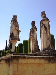 Cordoba, Spain -- Columbus negotiates with Queen Isabella and King Ferdinand, The Alcazar