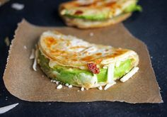 Avocado and Hummus Quesadillas - 18 Wholesome Ways to #Win at Cooking for One via Brit + Co.