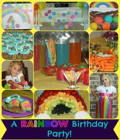 Huckleberry Love: A Rainbow Birthday Party!