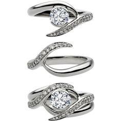 Entwined Bridal Set: Engagement Ring & Matching Wedding Ring