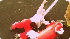 radio flyer retro rocket crash The Radio Flyer Retro Rocket radio flyer retro rocket with lights sounds ride on who needs a radio flyer when you can ride a red rocket radio flyer re... Rocket Ride, Radio Flyer Wagons, Retro Rocket, Flyer Design Templates, Go Kart, Lights, Red, Karting, Lighting
