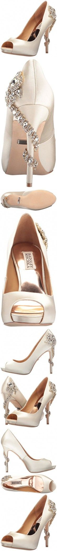 Badgley Mischka Women's Royal Dress Pump, Ivory, 7.5 M US
