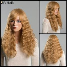 GET $50 NOW | Join RoseGal: Get YOUR $50 NOW!http://www.rosegal.com/human-hair-wigs/long-stunning-fluffy-wavy-side-bang-women-s-siv-human-hair-wig-622548.html?seid=4695937rg622548