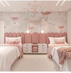 Kids Bedroom Designs, Bedroom Bed Design, Cute Bedroom Ideas, Home Room Design, Room Ideas Bedroom, Kids Room Design, Bedroom Decor, Bedroom Furniture, Furniture Design