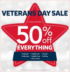 Carter's - Veterans Day Sale