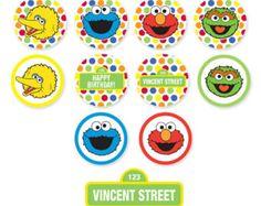 Sesame Street Printable Photo Booth Props  Elmo Cookie