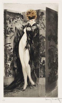 christiesauctions:  Louis Icart (1888-1950)'Venetian Shawl' 1921 Christie's Interiors